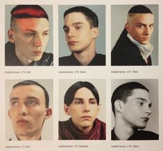 * January 2000: publication of the book Isolated Heroes in collaboration with photographer David Sims. Models wearing Spring-Summer 2000 collection with hair by Guido and make-up by Peter Phillips. taken by me from raf simons redux