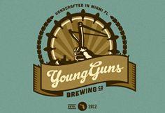 Le logo en forme de badge de Young Guns.