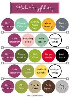 Color of the Week - Blueberry Bushel - Mackenzie Makes Color Combos Blueberry Bushel Color Pairing, Color Combinations, Color Schemes, Stampin Up, Flamingo Color, Color Of The Week, Grape Color, Colour Board, Coordinating Colors