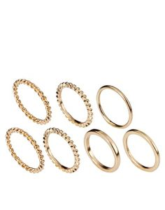 Not as sweet as Balenciaga's but hey.  Pieces Set Of Six Rings
