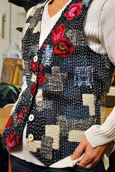 #Boro and embroidered vest