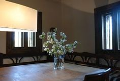 A hint of spring in the spacious dining room
