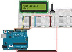 Tutorial Multilógica-Shop Arduino Display LCD. O display de LCD é uma peça importante em projetos em que você precisa visualizar a leitura de um sensor ou mesmo para transmitir uma informação para o usuário. Neste exercício você aprenderá a conectar o Display LCD 2x16 do seu Kit, que já vem com os pinos soldados. #arduino #eletronica #projetoarduino #tutorial