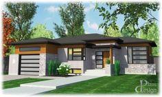 829 - Le Héka Bungalow Mobilité réduite / Handicapé Plain pied   Plans Design Home Design Plans, Plan Design, Modern Contemporary Homes, Mid-century Modern, Bungalow, Facade House, Modern Exterior, Architecture, House Plans