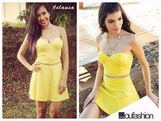 A sexta-feira da @Brunnah Moreira vai ser cheia de boas vibrações. A nossa cliente musa apostou num vestido amarelo, sucesso da nossa campanha de Alto Verão 2015. Que tal para você também?