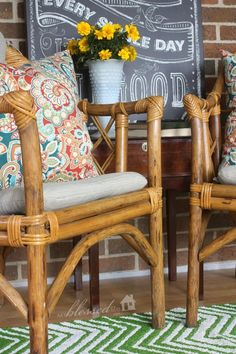 Beautiful $1 Bamboo Chairs | MyBlessedLife.net