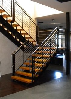 95 best stair railings cable and bar images banisters stairs rh pinterest com