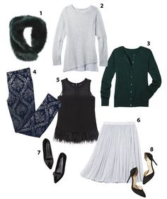 From a fabulous faux-fur collar to sparkling shoes, these festive finds will mix (and remix) to deck you out divinely for everything on your holiday calendar. Relax—you know what you're wearing to the party. Sparkly Wedding Shoes, Sparkly Shoes, Holiday Calendar, Holiday Wardrobe, Holiday Wear, Wardrobe Basics, Faux Fur Collar, Holiday Festival, Fall Winter Outfits