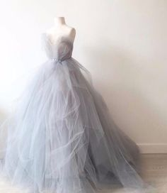 Gray tulle sweetheart long prom dresses,A-line dress from Sweetheart Dress : Gray tulle prom dress, sweetheart prom dress, ball gown 2017 Grey Evening Dresses, Elegant Prom Dresses, A Line Prom Dresses, Colored Wedding Dresses, Cheap Prom Dresses, Wedding Gowns, Formal Dresses, Formal Prom, Prom Long