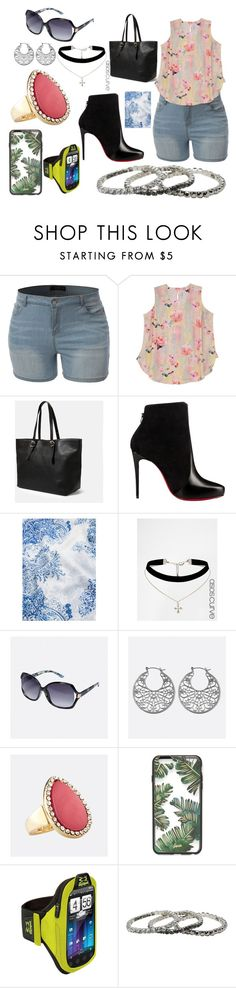 """""""Every Size is Beautiful"""" by jevance ❤ liked on Polyvore featuring LE3NO, Melissa McCarthy Seven7, Violeta by Mango, Christian Louboutin, MANGO, ASOS Curve, Avenue, Sonix, M&Co and plus size clothing"""