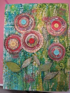 Mixed Media Poppies my-blog-kid-s-art-projects
