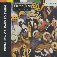 1997 Victor Jazz History: From New Orleans to Swing (sampler) [RCA 74321285652] cover painting by Alice Choné #albumcover