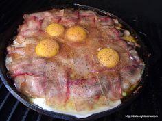 Meat Lovers Breakfast Skillet, wood pellet, grill, BBQ, smoke, recipe