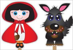 Stick puppets #storytime props for The Little Red Riding Hood.
