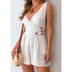 Macaquinho-Viscolinho-Laura Casual Outfits, Summer Outfits, Cute Outfits, Summer Dresses, Culottes, Summer Wear, Diy Clothes, Fashion Dresses, Girls Dresses