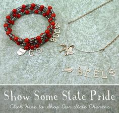 State charms in silver and state jewelry ideas.