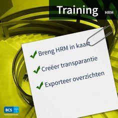 Breng u volledige HRM in kaart. Leer alle stappen tijdens onze training HRM. Creëer transparantie | Exporteer overzichten | Schrijf u direct in via https://bcsacties.nl/product/hrm/