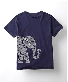 Another great find on #zulily! Navy Elephant & Lotus Tee - Kids #zulilyfinds