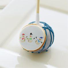 Colorful Snowman Christmas Parade Cake Pops #party #favors #cakepop http://www.zazzle.com/sara_valor*/cake+pop