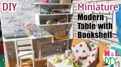 tutorial: mini modern table with bookshelf