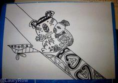 My Koala Zentangle by @LauryRow   Like my page here :: https://www.facebook.com/merveillesdetentesdelaury