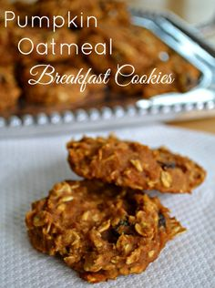 Pumpkin Oatmeal Breakfast Cookies  Perfect for Breakfast or a healthy snack  - Luv a Bargain