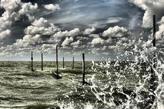 Wild water at Markermeer Holland