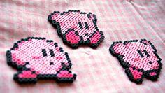 Kirby Perler Bead Sprite Keychain/Magnet