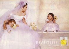 Beautiful Estée Lauder perfume - a fragrance for women 1985 Estee Lauder Beautiful Perfume, Estee Lauder Perfume, Older Bride, Elizabeth Hurley, Beauty Shots, Vintage Advertisements, Fragrance, Flower Girl Dresses, Wedding Dresses