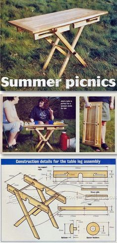 Folding Picnic Table Plans - Outdoor Furniture Plans and Projects | http://WoodArchivist.com