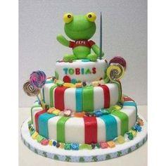 Torta Sapo Pepe!! Fiesta Infantiles,cumpleaños,decoradas