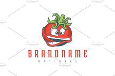 For sale. Only $29 - red, green, memorable, illustration, cartoon, leaf, vegetable, food, mascot, crisp, hot, angry, spicy, mouth, tongue, tomato, chili pepper, pumpkin, character, mad, crazy, expression, face, restaurant, pizzeria, farm, organic, agriculture, fruit, fun, logo, design, template,