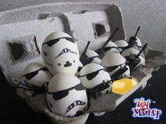 Another Eggcellent mashup - Stormtropper Eggs!  All it takes is one bad egg to spoil an Empire. Posted to the Chicago Toy and Game Fair's Facebook page.  http://2.media.dorkly.cvcdn.com/44/25/98ff29bcbff37e3e1524b2fa21e444b6.jpg