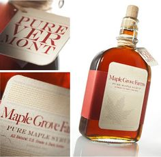 Maple Grove Farm - application of branding on label with tag