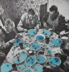 Photo & collages. Heike Weber. Les vacances jusque dans l'assiette. #piscine #soupe #repas http://www.heikeweber.net/