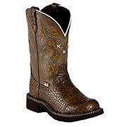 Justin® Gypsy Collection™ Ladies Brown Pearl Print Cowhide Round Toe Boots