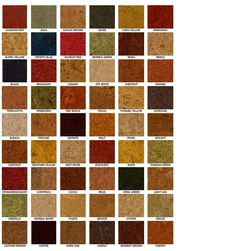 Available Colors for DuroDesign Cork Flooring