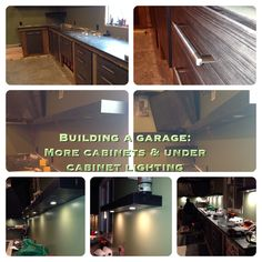Building a Garage: More cabinets & under cabinet lighting. Building A Garage, Under Cabinet Lighting, Cabinets, Instagram, Armoires, Fitted Wardrobes, Lockers, Building A Carport, Armoire