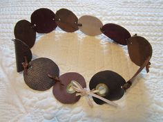 Brown Circle Knot Leather BELT with Grommets by BecomingDesigns, $20.00