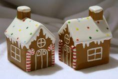 Gingerbread Salt & Pepper Houses
