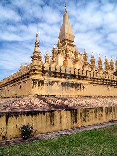 Golden Temple (Great Sacred Stupa / Pha That Luang). Vientiane, Laos. March 27th, 2015.