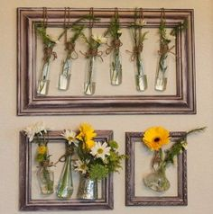 Old Window Crafts - DIY Window Frame Craft Ideas - DIY projects with old window frames Picture Frame Decor, Upcycle Decor, Diy Window, Upcycled Picture Frames, Diy Picture Frames, Window Frame Crafts, Upcycled Home Decor, Frame Crafts, Old Window Crafts