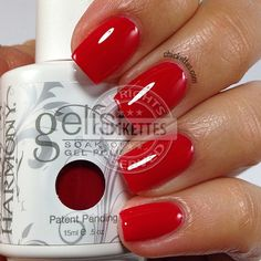 Gelish Red-y For the Festival swatch by Chickettes.com