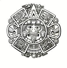 Aztec Art Coloring Pages on moon goddess art vector . Chicano Tattoos, Chicano Art, Body Art Tattoos, Tatuagem Azteca, Opa Tattoo, Tattoo Maori, Maya Art, Sol Maya, Aztec Warrior Tattoo