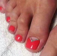 Ideas For Red Pedicure Designs Toenails Manicures Red Pedicure, Pedicure Colors, Pedicure Designs, Pedicure Nail Art, Toe Nail Designs, Pedicure Ideas, French Pedicure, Art Designs, Toe Nail Color