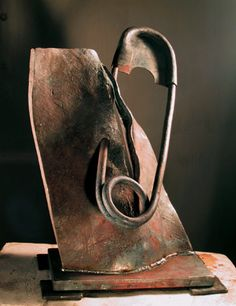 Contemporary Hot-Forged Iron Sculpture by Guiseppe Pongolini from Italy / http://www.pongolini.it/H.htm#