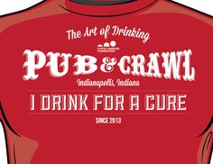 From Burnish & Press, i drink for a cure.