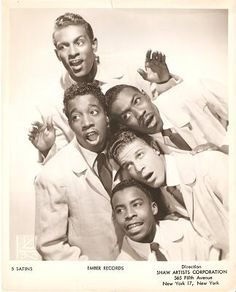 Five satins photos | ... FIVE SATINS: Popular Rhythm & Blues Do-wop Group of the 1950s., Five