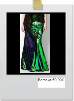 Maxi skirt with sequins by Bershka