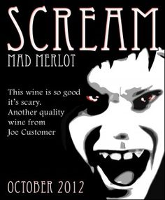 A Halloween custom wine label from Noontime Labels.